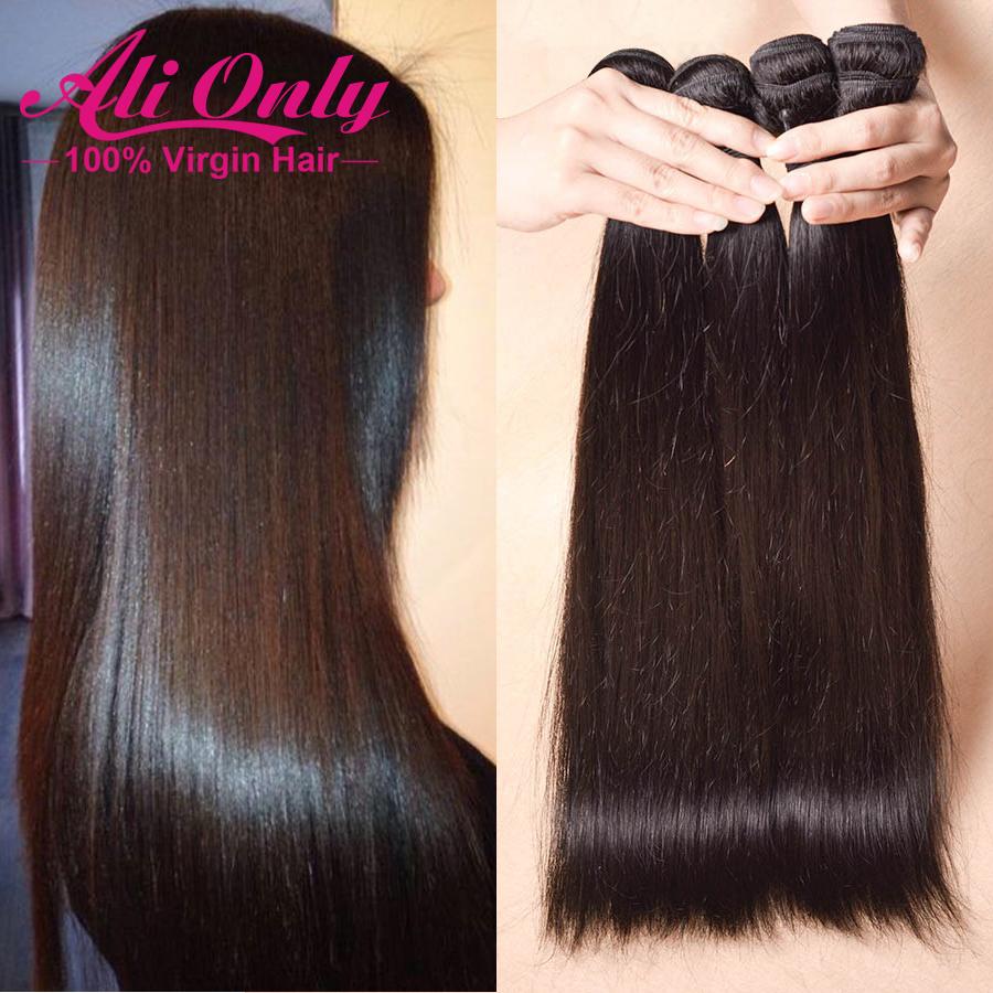 Cheap Brazilian Virgin Hair Straight 3 Bundle Deals Brazilian Straight Hair Tangle Free Straight Brazilian Hair Human Hair Weave