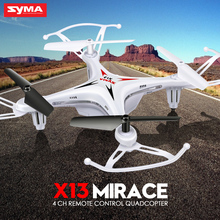 100% Original SYMA X13 4CH 2.4G 6-Axis Shatterproof Remote Control Aircraft 3D Rollover Gimbal Pocket RC Helicopter Drone toys