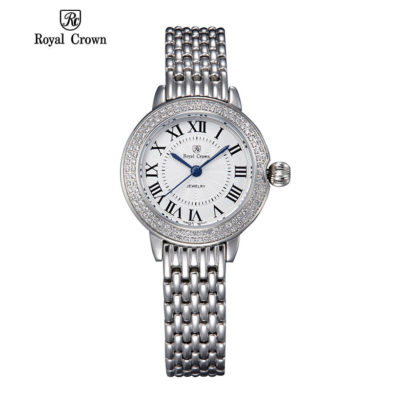 2015 Promotion Rushed Stainless Steel Sapphire New Royal Crown Women's Bracelet Watches Girls Watch Quartz Ladies Diamond Steel(China (Mainland))