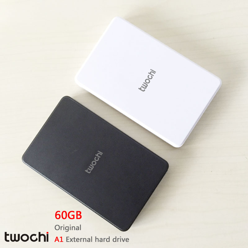 Free shipping New Styles TWOCHI A1 Original 2 5 External Hard Drive 60GB Portable HDD Storage