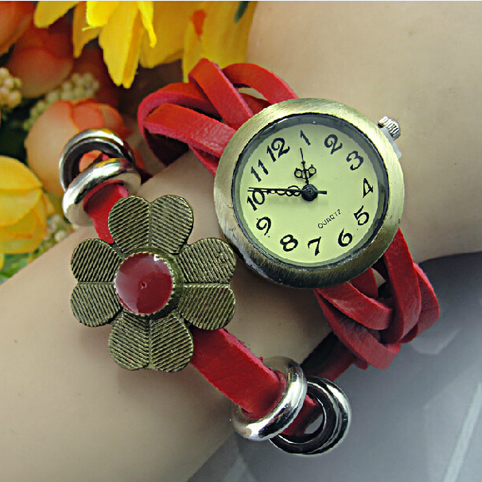 2016 New Arrival Fashion Top Fashion Brand Ms Color Glue Flowers Watch & Children Watch For Girl / Watches Women Luxury Brand(China (Mainland))