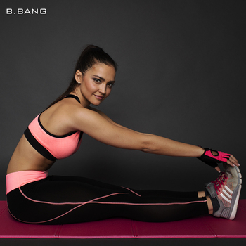 B. BANG 2016 Фитнес Женщины Бег Леггинсы Спорт Эластичные Штаны для Yoga Тренажерный Зал Женщины Спортивные Брюки, Работающие Колготки