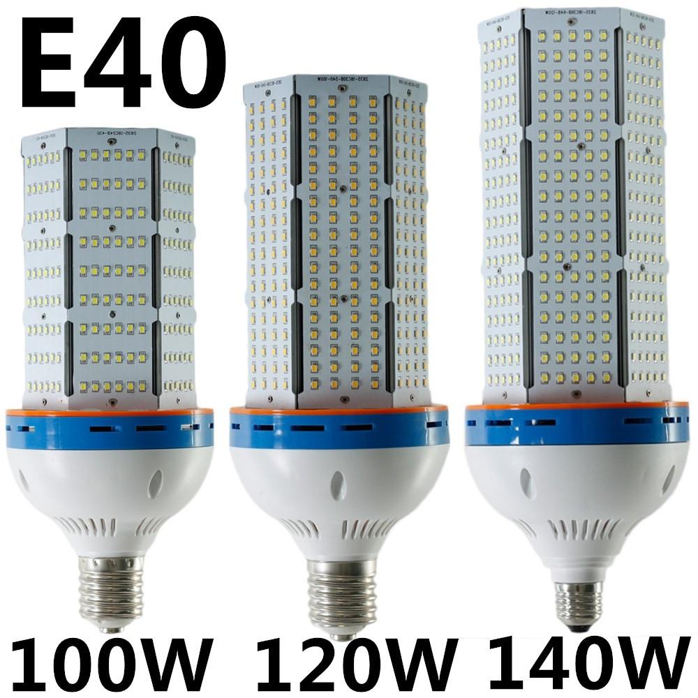 100W 120W 140W High Power LED Corn Light E27 E40 Warm White/Cool White AC85-265V Lamp Lighting - XinJia store