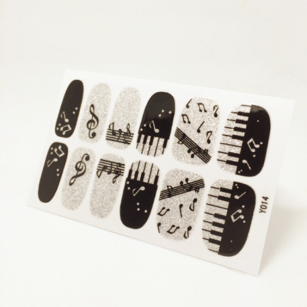 Nails Sticker Piano Musical Note Design Nail Sticker Manicure Decor Tools Cover Nail Wraps Decals(China (Mainland))