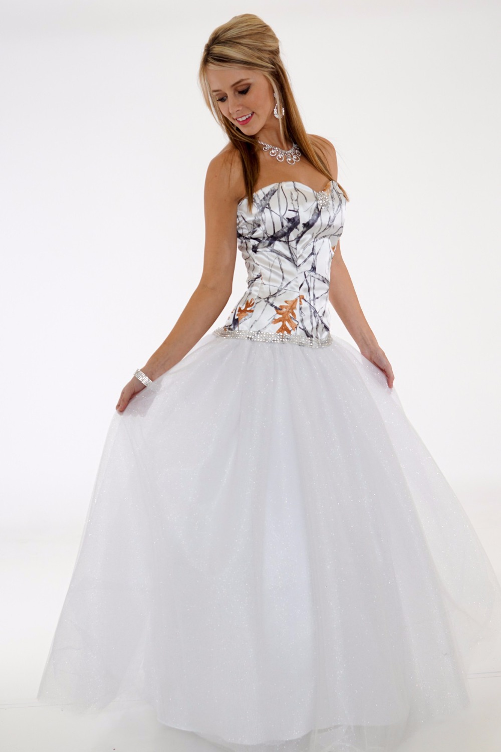 Wedding Dresses In White And Camo 92