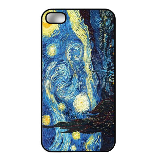 Vincent Van Gogh The Starry Night custom design hard plastic mobile cell phone bags case cover for iphone 4 4s 5 5s 5c 6 plus(China (Mainland))