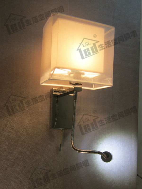 Hardwired Wall Light Switch 45606 : Aliexpress.com : Buy Hard wired 4 Stages Switch Hotel Wall Lamp with 2 Layer Fabric Shades ...
