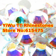 Free Shipping! 1440pcs/Lot, ss3 (1.3-1.5mm) Crystal AB/Clear AB Flat Back ( Nail Art ) Non Hot Fix Glue on Rhinestones(China (Mainland))