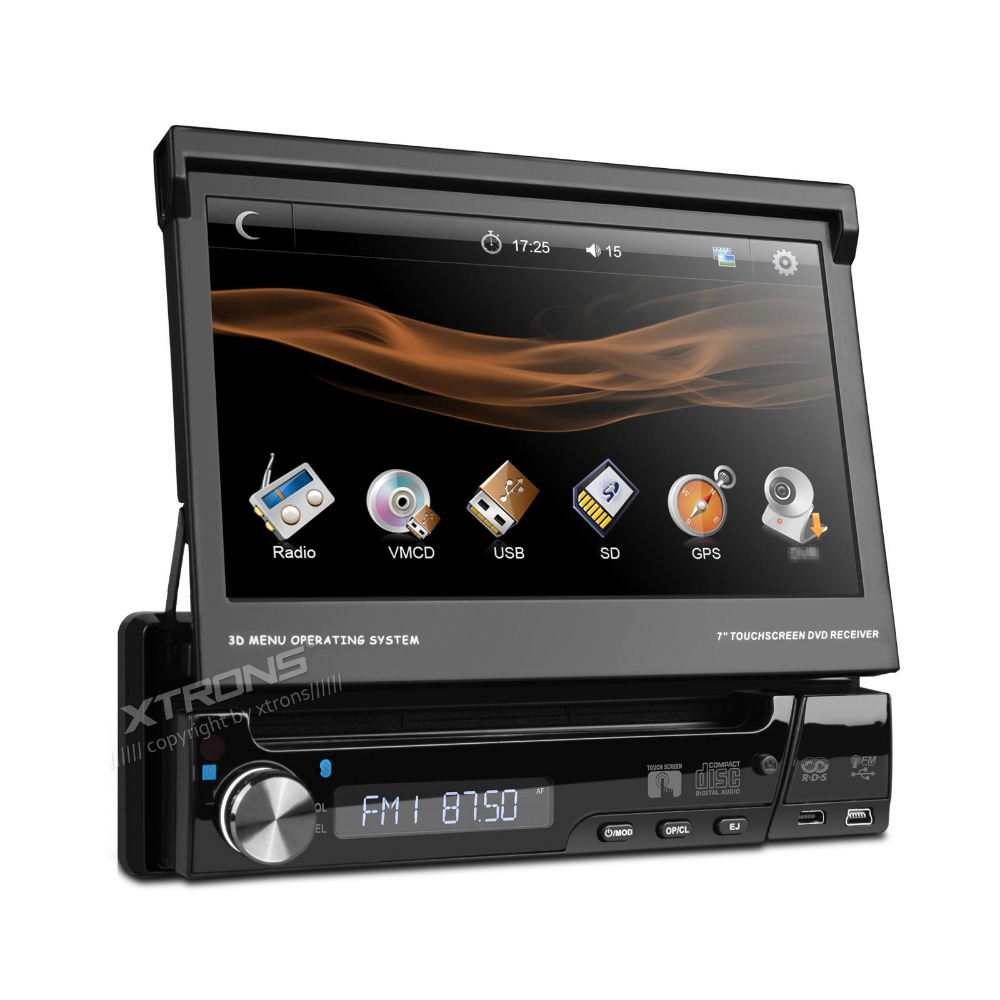 "7"" Digital Touch Screen One Din Car DVD Player Single Din Car Radio 1 Din Car Audio Detachable Panel Radio Bluetooth Virtual CDC(China (Mainland))"