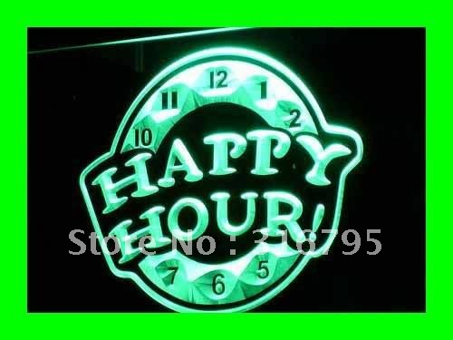 I257 G Happy Hour Beer Bar Pub Club New Led Neon Light Sign On Off Switch 7 Colors In Plaques
