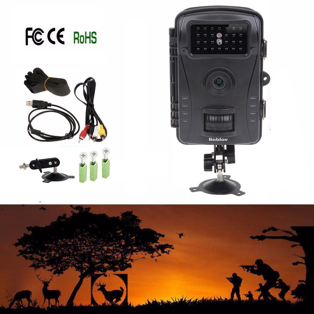 Фотография Free Shipping!  Boblov RD1003 8MP PIR Night Vision IR Game Hunting Trail Security HD Camera Cam DVR