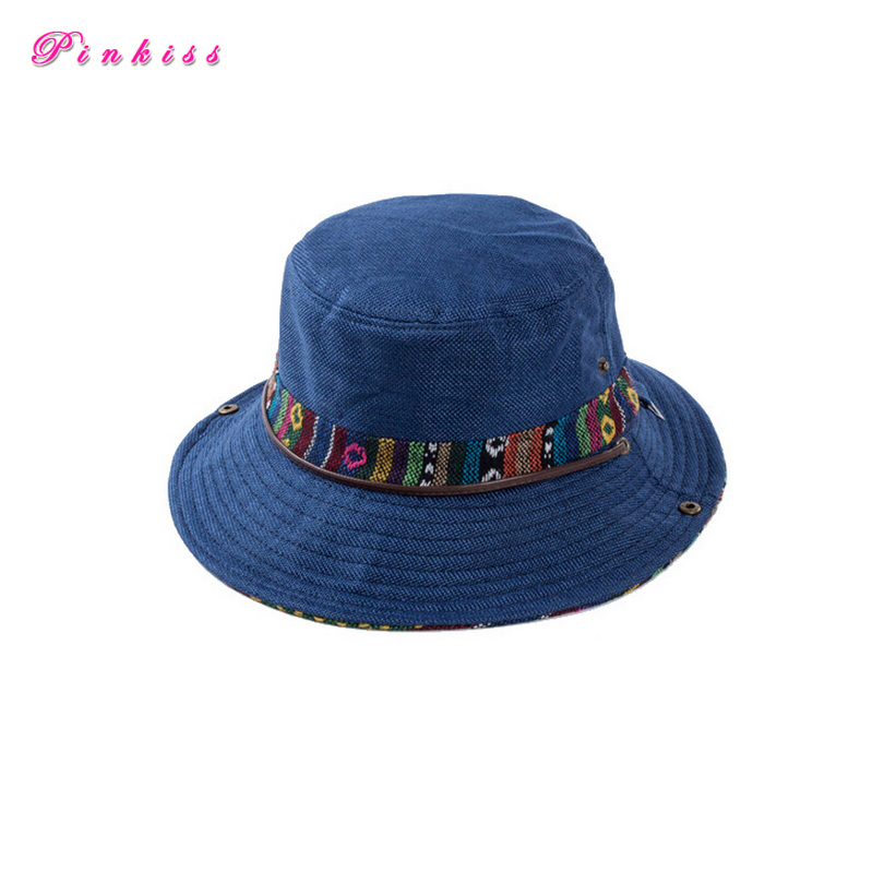 2015 new fashion unisex bucket hats nation printed flat for Womens fishing hat