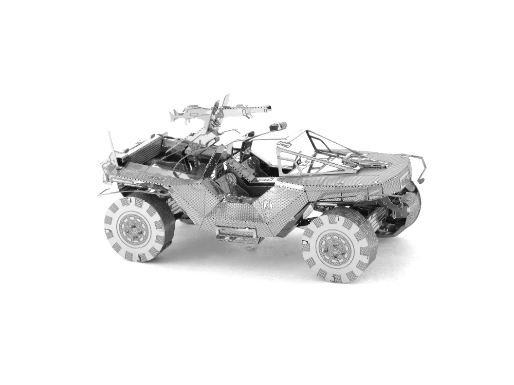 3D Metal Puzzles Halo Warthog weapons Toys 3D Metal Model NANO Puzzles Chinses Metal Earth DIY Creative Gifts(China (Mainland))