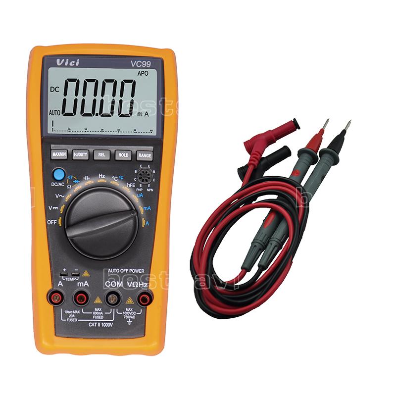 Vichy VC99 3 6/7 Auto range digital multimeter Ammeter Voltmeter Temperature Tester Unit Symbol 61 Selection Analog Bar Display(China (Mainland))