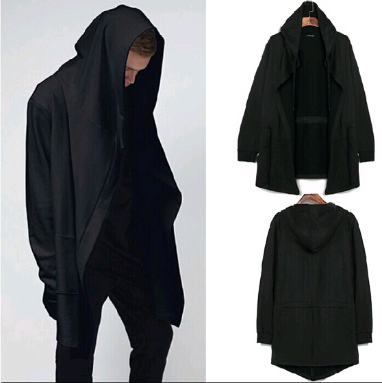 Original Design Men's Clothing Sports Mens Hoodies And Wweatshirts Men Cardigan Mantissas Black Cloak Outerwear Man Hoody,Free(China (Mainland))