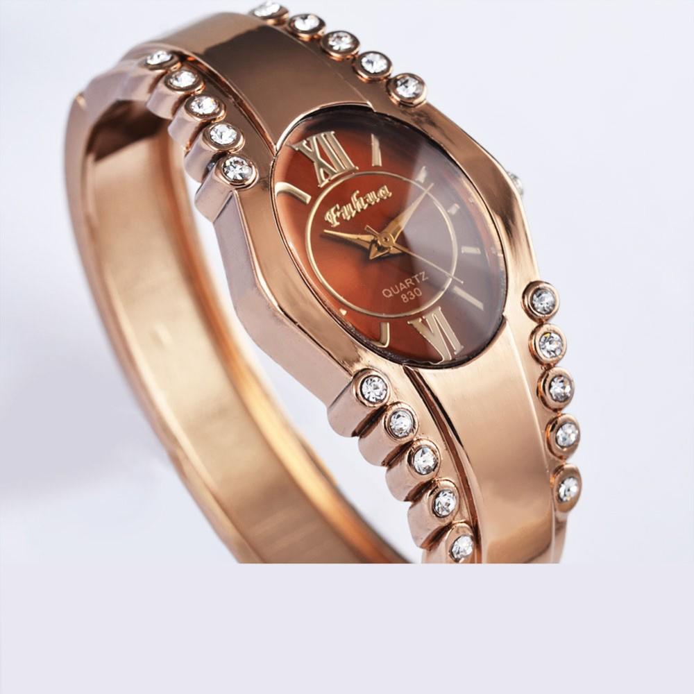 016 новые часы простые повелительницы розовое золото браслет смотреть Корейской версии тенденция персонализированные часы