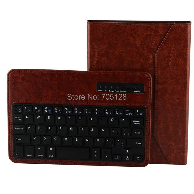 10pcs/lot Crazy Horse Series Detachable Wireless Bluetooth Keyboard Leather Case For iPad Mini With retina/iPad mini(Hong Kong)