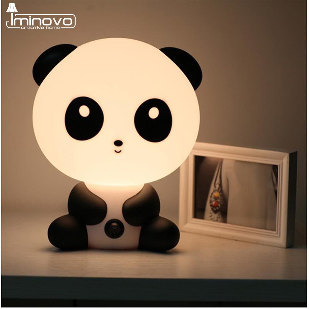 IMINOVO Children Night Light Animal Table Lamp Bedroom LED Desk Lamp Light Kids Novelty Lighting Gift Living Room E14 Bulbs(China (Mainland))