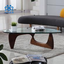 Creative sitting room tea table triangle tea table glass tea table(China (Mainland))