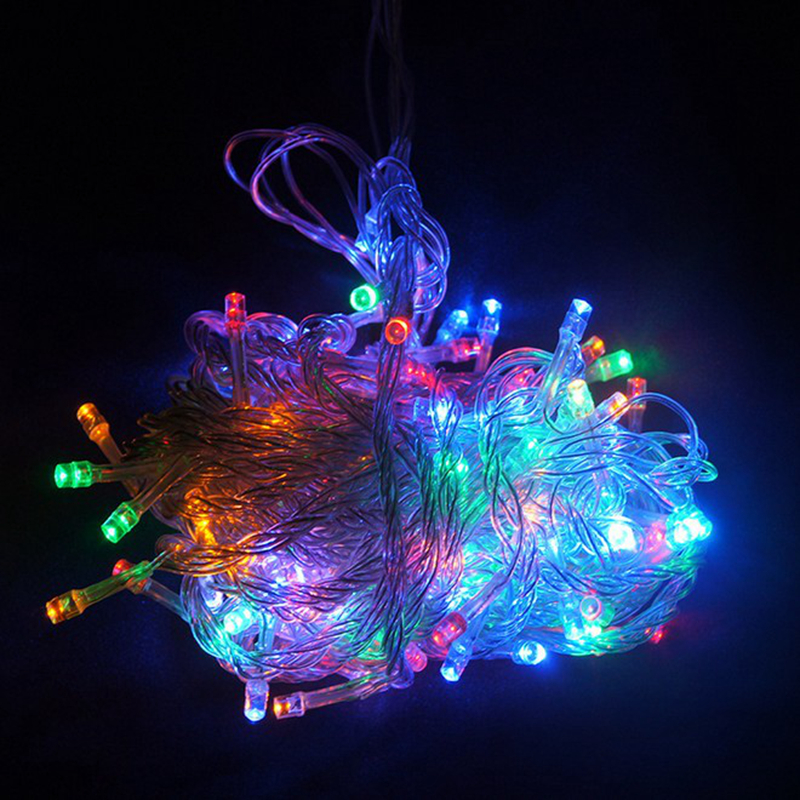 Festival Party String Lights : 10M Waterproof 100 LED holiday String lights for Christmas Festival Party Fairy Colorful Xmas ...