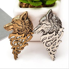 Buy 2016 Retro Vintage Wolf Brooch Animals Brooch Badges Collar Clip Pins Men Suit Badges Collar Jewelry Accessories ) for $1.17 in AliExpress store