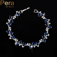 Pure Sapphire Topaz Girls Jewellery Sterling Silver Darkish Blue Cubic Zirconia Diamond Bracelets Bangle For Get together Present B042