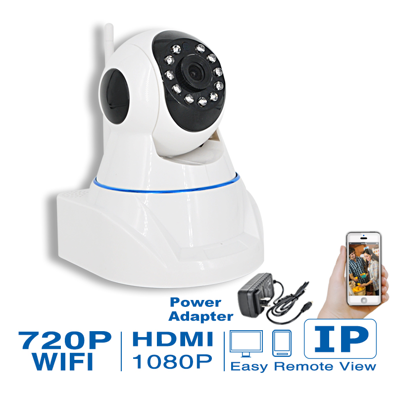 Security H.264 1.0MP HD 720P IP Camera P2P Pan IR Cut WiFi Wireless Network IP Security Camera robot baby monitor ip camera(China (Mainland))