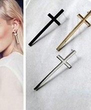 New Fashion Vintage Cross Earring Temperament  Ear Lovers Punk  Dangle Earrings(China (Mainland))