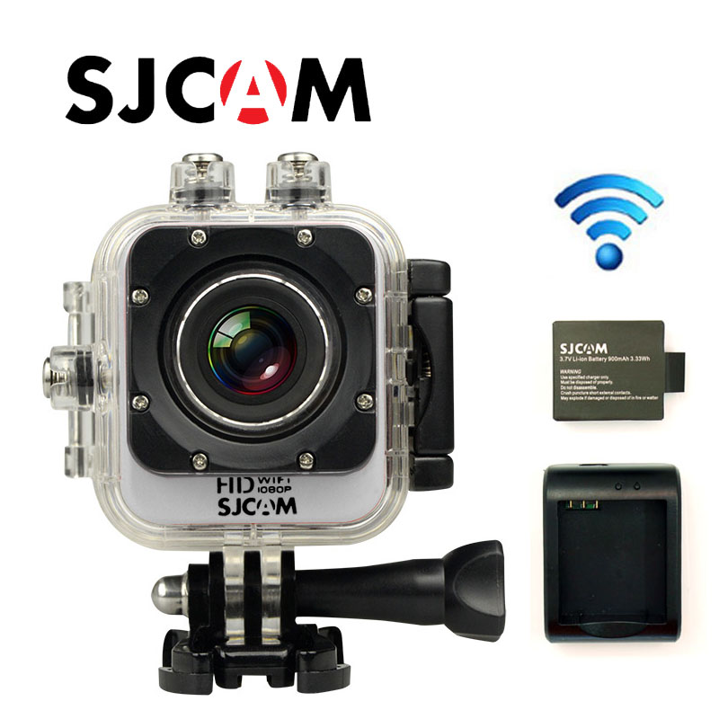 Free Shipping!Original SJCAM M10 WiFi Mini Cube Action Camera Waterproof HD Camcorder Car DVR+Extra 1pcs battery+Battery Charger