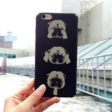 Novelty Cat Kitty Dog Hard Plastic Case for iPhone 6 Plus 6S Plus 5.5″ Fashion Phone Cover Protective Back Cases