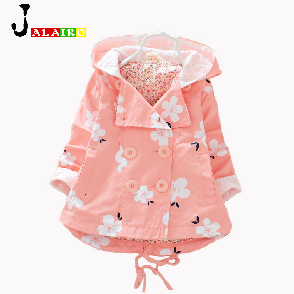 2016 NEW Girls Coat Jacket Spring Autumn Girls Double Breasted Cardigan Infant baby kids Lace Coat