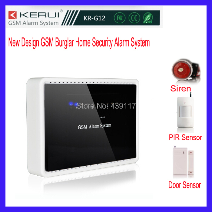 Home Wireless New Design GSM/GPRS Burglar Security Alarm System Support configuration via phone call SMS or smart phone APP(China (Mainland))