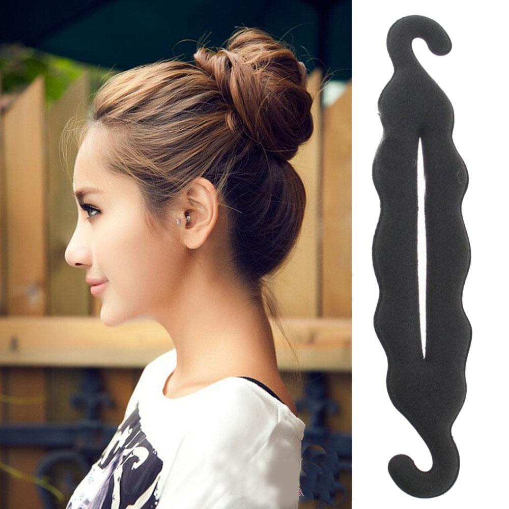 24cm Hight Quality Women Magic Foam Sponge Hairdisk Hair Device Donut Quick Messy Bun Updo Headwear A12R4