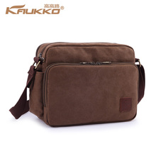 "Kaukko Kaukko Bag Leisure Canvas Handbag for Unisex Vintage Messenger Bag Suit about 10"" Tablet PC(China (Mainland))"