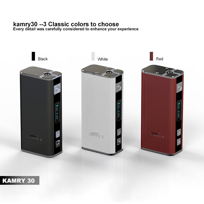 Original KAMRY 30W V1 Variable Wattage eCigarette 18650 Battery Mod Kamry 30 30W VW Mode 7W-30W 2000mAh Mod<br><br>Aliexpress