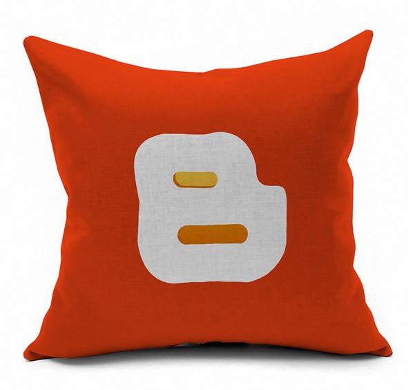 Blogger Internet Technology Symbol Logo Internet Emoji Pillow Massager Decorative Pillows Case Cover Euro Home Decor Gift(China (Mainland))