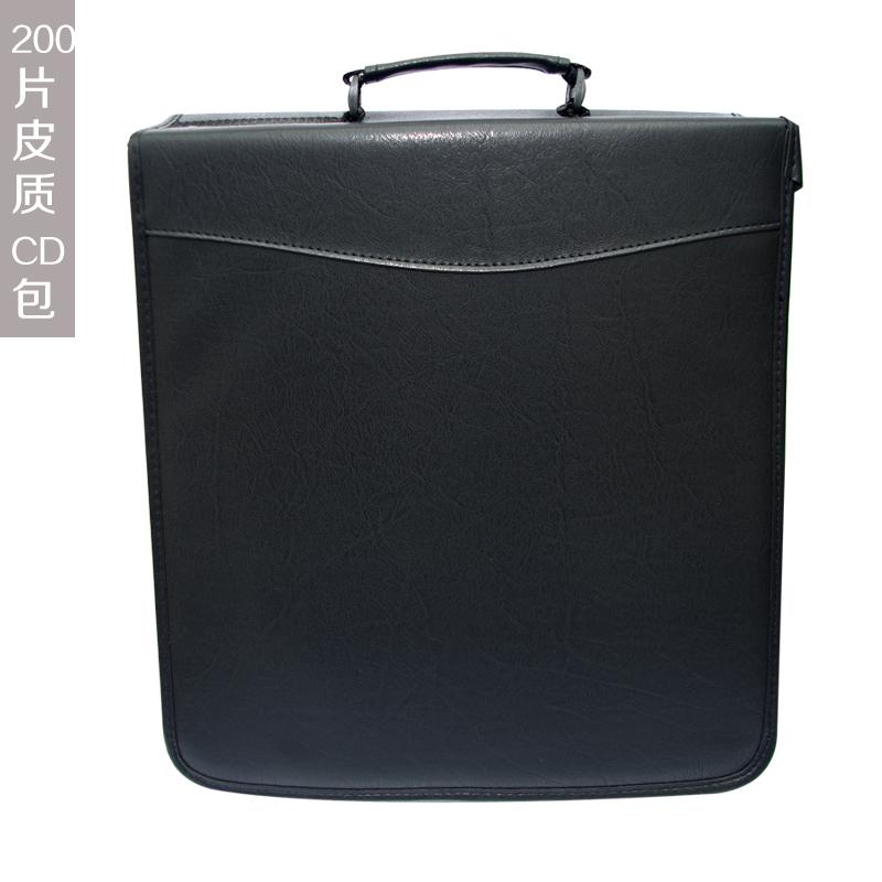 Retail Durable Vinyl CD/DVD Case 200Capacity Retro Bag CD Portable Wallet