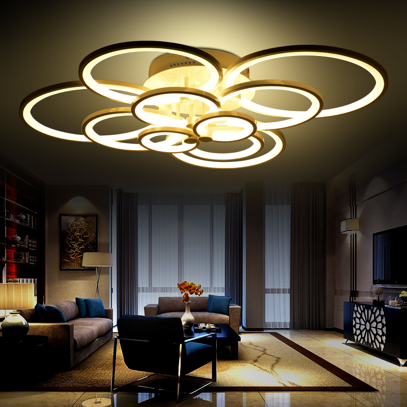 ceiling light living room lights modern brief circle bedroom lighting