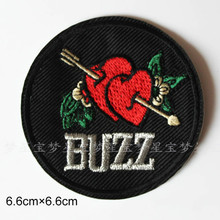 10 Pcs Punk Love patches Embroidered iron/sew on Patch to Cloth, Jacket, Jean, Cap, T-shirt and Etc. /