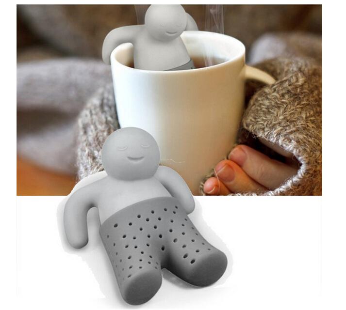 2015 Teapot cute Tea Infuser Tea Strainer Coffee Tea Sets silicone mr tea