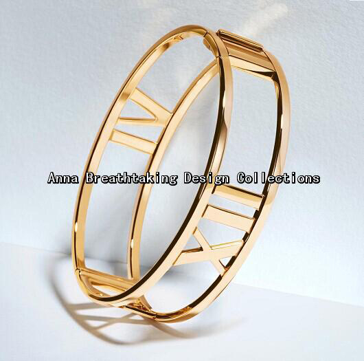 2014 New Present Roman Numerals Hinged Bangle,Strong Lines Meet Striking Numerals In A Contemporary Design,Finest Gift For Women(China (Mainland))