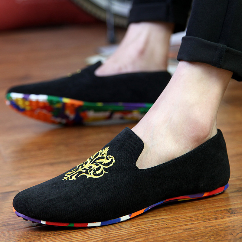 Hot Selling Colorful Men Velvet Loafers Moccasins Men Wedding&Party Shoes Men's Flats Male Smoking slippers Size 39-44(China (Mainland))