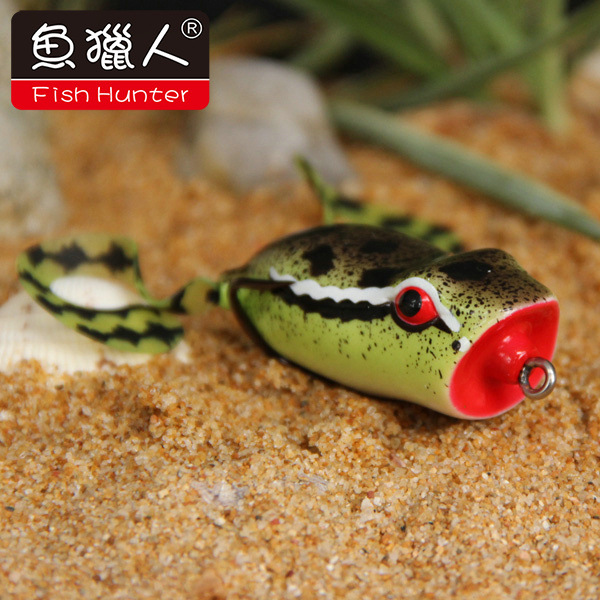 New type frog bait popper frog lure 50mm/10g wide double hook floating fishing lure bait frog(China (Mainland))