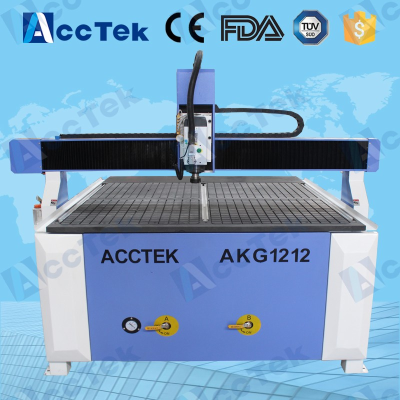 cheaper 4 axis air cooled vacuum table AKG1212 cnc router 6090(China (Mainland))