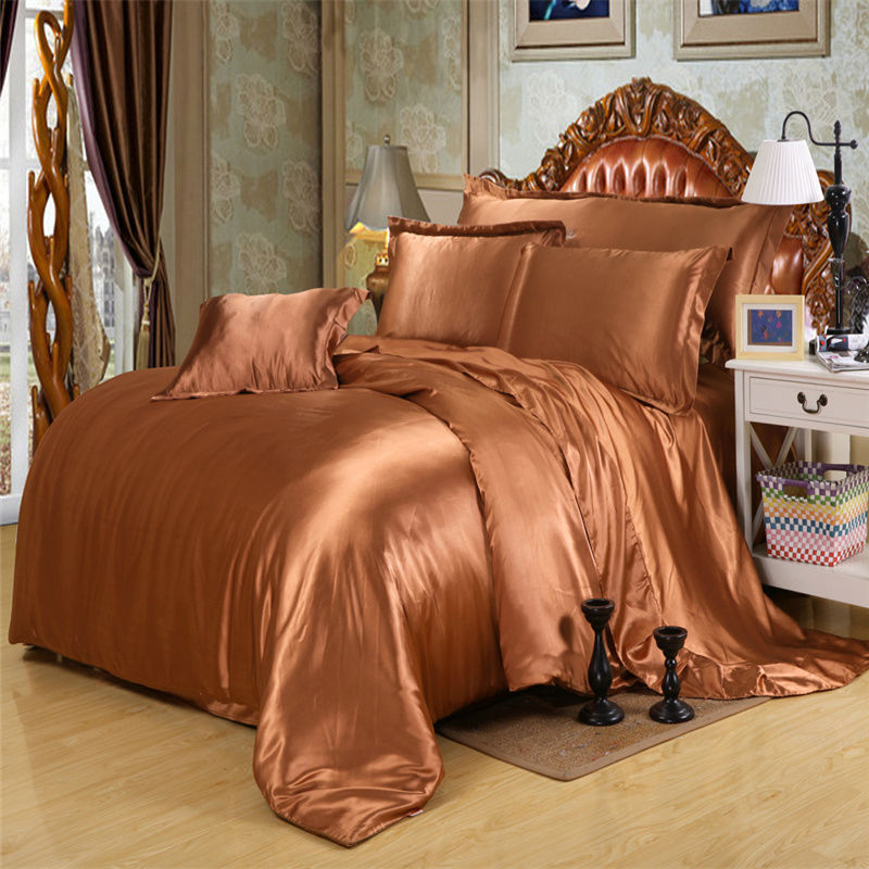 Luxury Silk reactive printing bedding sets Queen Double size Linenes High quality Quilt cover set(China (Mainland))
