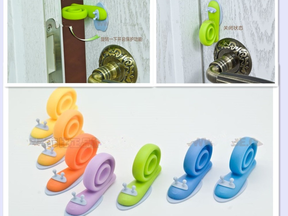 6pcs/lot Best Design Cartoon Snail Door Stopper Holder Child Kids Baby Safety Guard Finger Protect(China (Mainland))