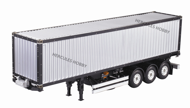 [HERCULES HOBBY] TAMIYA Tractor Truck 1/14 Scale 3 Axle 40 Foot Container Semi-Trailer Made China - HERCULES HOBBY store