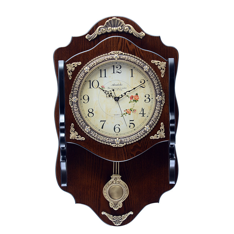 Annabel Continental Wooden Wall Clock Silent Clock Creative Living Room Wall