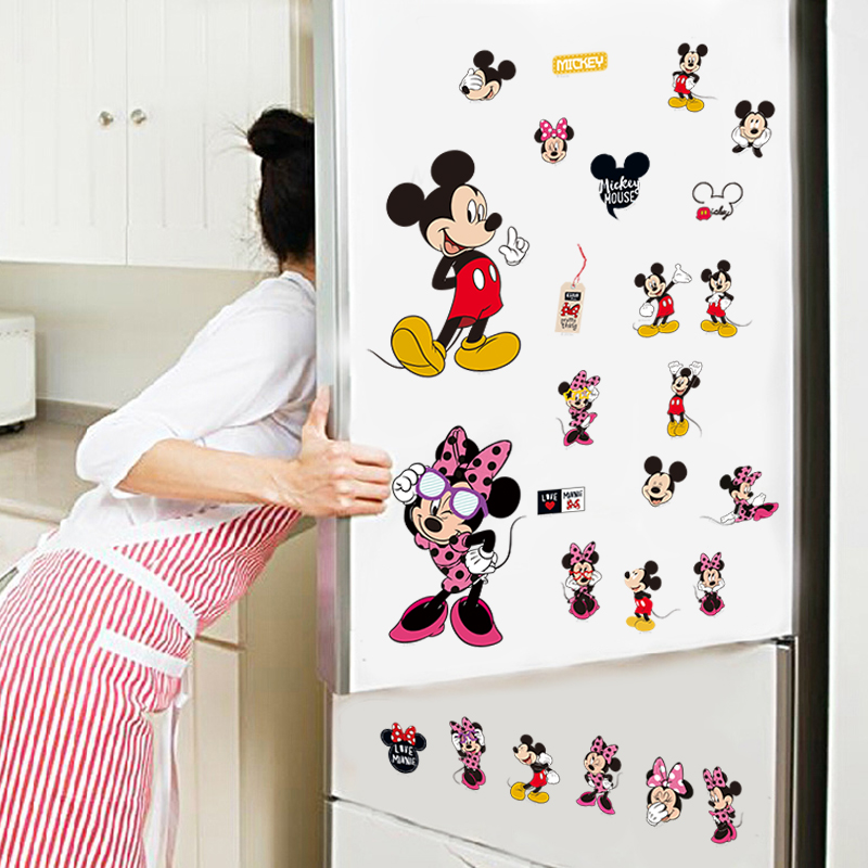 Cartoon Mickey Minnie Mouse Home Decals Wall Sticker Kids