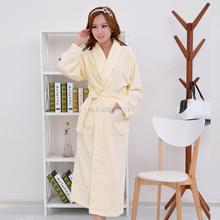 Cotton Bathrobe Nightgown adult male Ladies Cotton Pajamas bathrobe couple thickened in autumn and winter(China (Mainland))